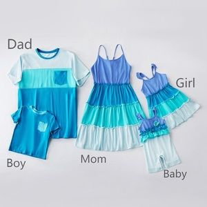 Mosaic Family Matching Outfits - 4 piece set